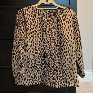 J crew Leopard shirt